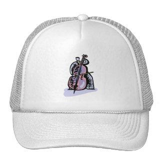 Orchestral Bass Player Image Graphic Design Trucker Hat