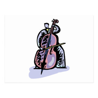 Orchestral Bass Player Image Graphic Design Postcard