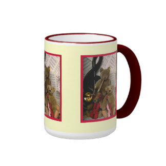 Orchestral bears ringer coffee mug