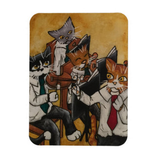 Orchestral Cats Rectangular Photo Magnet