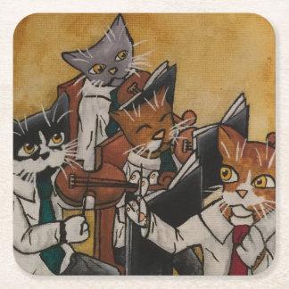 Orchestral Cats Square Paper Coaster