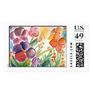 Orchid12 Stamp