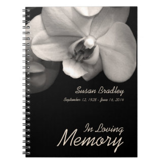 Orchid 1 Custom Memorial Funeral Guest Book