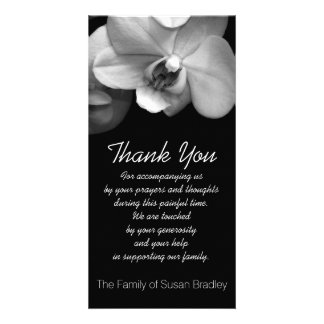 Orchid 1 Sympathy Thank you Photo Card