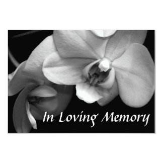 Orchid 2 Floral Photography Celebration of Life 3.5x5 Paper Invitation Card