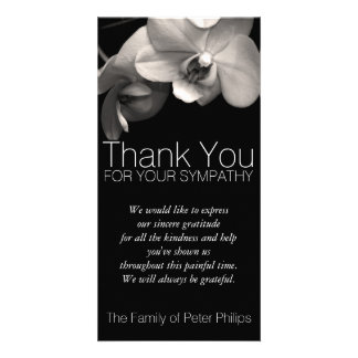Orchid 2b Sympathy Thank you Photo Card