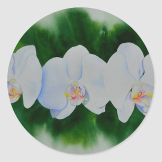 Orchid 3 classic round sticker