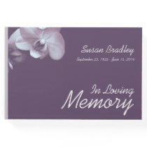 Orchid 3 Floral Photography Funeral Guest Book