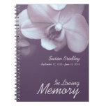 Orchid 3 Floral Photography - Funeral Guest Book Note Book