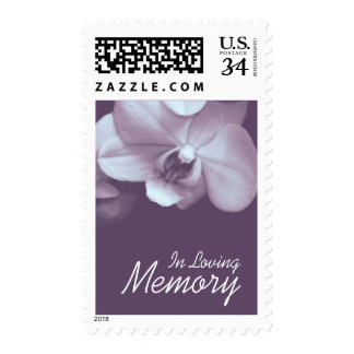 Orchid 3 In Loving Memory Funeral Postage
