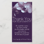 """Orchid 3b Sympathy Thank you Photo Card<br><div class=""""desc"""">Floral Photography - Simple,  modern and elegant customizable Sympathy Thank You photo card. You can easily change text color,  font,  size and position by clicking the customize button. Matching Orchid Celebration of Life,  Orchid Funeral Postage and Orchid Guest Book.</div>"""
