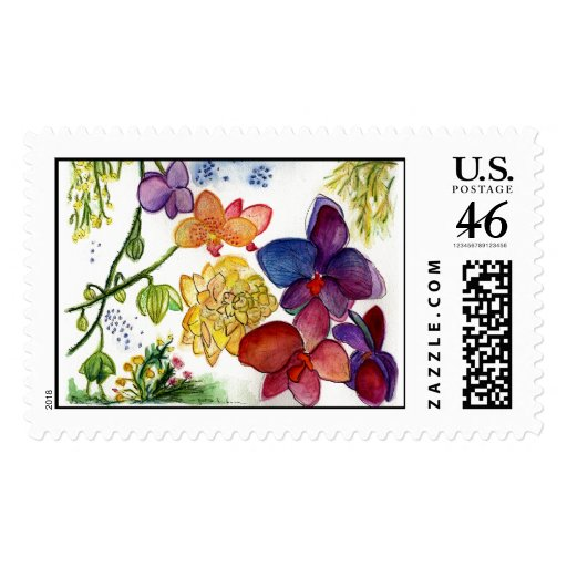 Orchid 40 Stamp