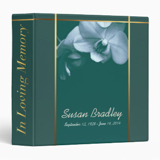 Orchid 4 Memorial Remembrance Book - Custom Binder