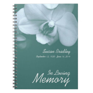 Orchid 5 Floral Photo Funeral Guest Book