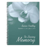 Orchid 5 Floral Photo - Funeral Guest Book Spiral Note Books