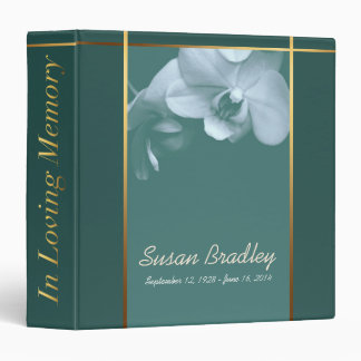 Orchid 5 Memorial Remembrance Book - Custom Binder