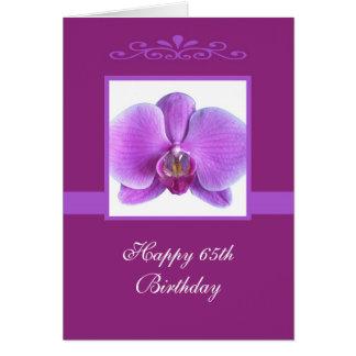 Orchid 65th Birthday Card