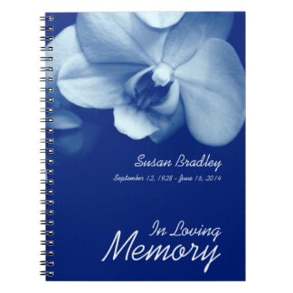 Orchid 6 In Loving Memory Funeral Guest Book