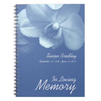 Orchid 7 Floral Photography Funeral Guest Book