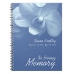 Orchid 7 Floral Photography - Funeral Guest Book Spiral Note Book