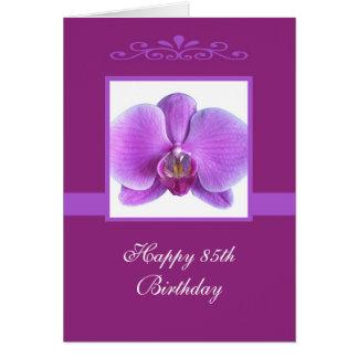Orchid 85th Birthday Card
