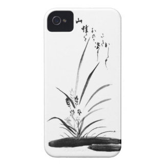 Orchid and Bee Zen painting Case-Mate iPhone 4 Case