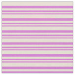 [ Thumbnail: Orchid and Bisque Colored Stripes/Lines Pattern Fabric ]