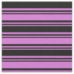 [ Thumbnail: Orchid and Black Colored Pattern Fabric ]
