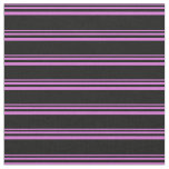 [ Thumbnail: Orchid and Black Striped Pattern Fabric ]