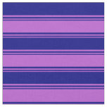 [ Thumbnail: Orchid and Blue Colored Lines Fabric ]