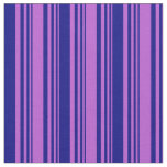 [ Thumbnail: Orchid and Blue Colored Lines Pattern Fabric ]