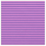 [ Thumbnail: Orchid and Blue Colored Lines/Stripes Pattern Fabric ]