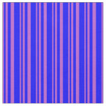 [ Thumbnail: Orchid and Blue Stripes Pattern Fabric ]