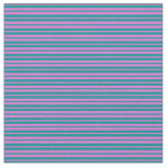 [ Thumbnail: Orchid and Dark Cyan Colored Lines Fabric ]