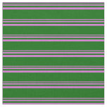 [ Thumbnail: Orchid and Dark Green Colored Lines Fabric ]