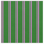 [ Thumbnail: Orchid and Dark Green Pattern Fabric ]
