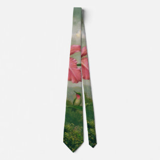 Orchid and Hummingbird 1902 Tie