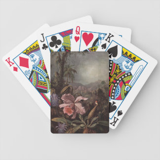 Orchid and Hummingbird by Martin Johnson Heade Bicycle Playing Cards