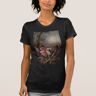 Orchid and Hummingbird by Martin Johnson Heade T-Shirt