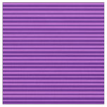 [ Thumbnail: Orchid and Indigo Colored Lines/Stripes Pattern Fabric ]