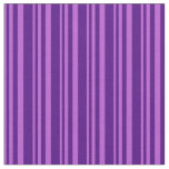 [ Thumbnail: Orchid and Indigo Stripes Pattern Fabric ]