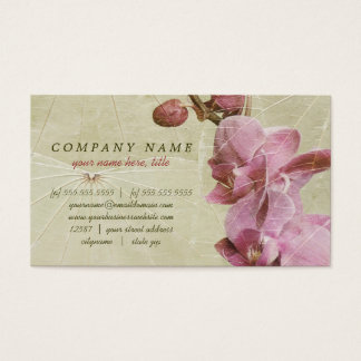 Orchid and Leaves Business Card