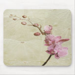 Orchid and Leaves Mouse Pad
