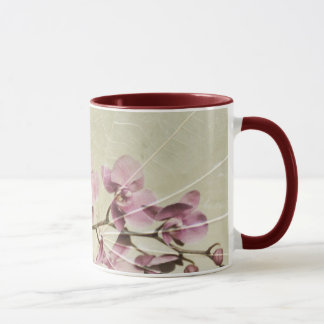 Orchid and Leaves Mug