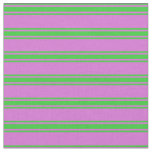 [ Thumbnail: Orchid and Lime Green Colored Lines Fabric ]