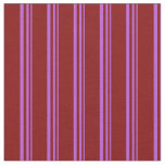 [ Thumbnail: Orchid and Maroon Colored Stripes Pattern Fabric ]