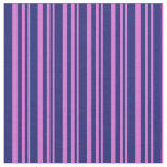 [ Thumbnail: Orchid and Midnight Blue Colored Pattern Fabric ]