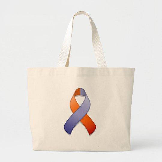 Orchid and Orange Awareness Ribbon Bag