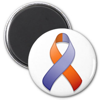 Orchid and Orange Awareness Ribbon Magnet