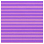 [ Thumbnail: Orchid and Purple Pattern of Stripes Fabric ]